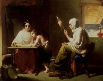 The Early Days of Timothy   Henry Le Jeune   oil painting