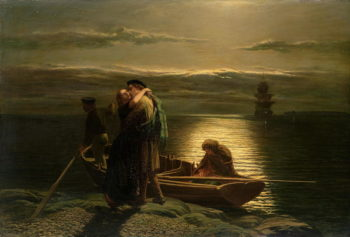 The Emigrant 1858 | Paul Falconer Poole | oil painting