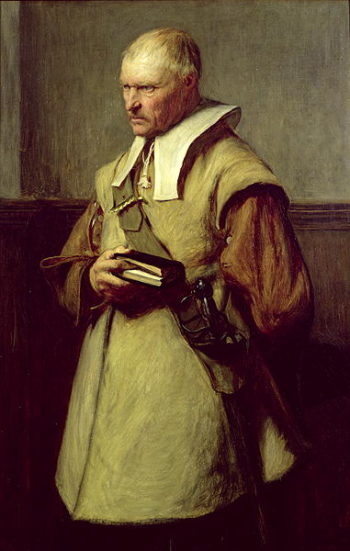 Puritan Roundhead | John Pettie | oil painting