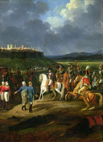 The English Prisoners at Astorga Being Presented to Napoleon Bonaparte | Hippolyte Lecomte | oil painting