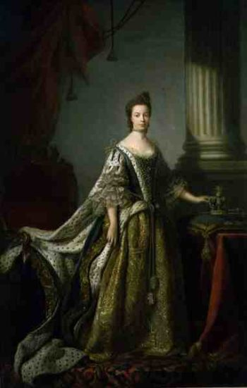 Queen Charlotte Queen Consort of George III 1762 64 | Allan Ramsay | oil painting