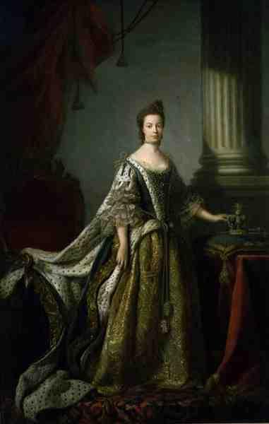 Queen Charlotte Queen Consort of George III 1762 64 | Allan Ramsay | oil painting