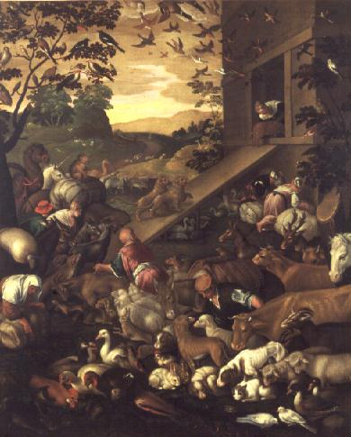 The Entrance of the Animals into the Ark | Jacopo Bassano | oil painting