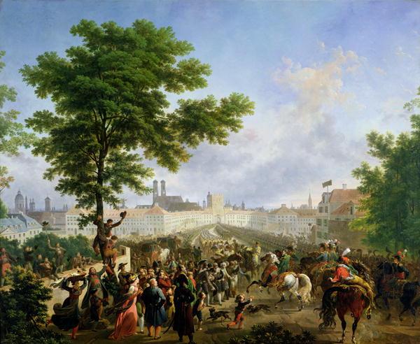 The Entry of Napoleon Bonaparte | Nicolas Antoine Taunay | oil painting