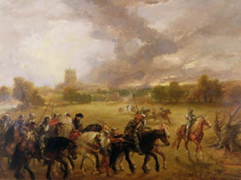 Queen Margaret of Anjou taken Prisoner after Tewkesbury 1875 | Sir John Gilbert | oil painting