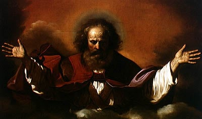 The Eternal Father   Guercino   oil painting