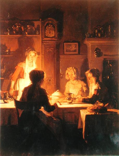 The Evening Meal 1900   Joseph Bail   oil painting