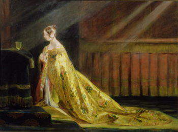 Queen Victoria in Her Coronation Robe 1838 | Charles Robert Leslie | oil painting