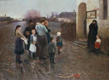 The Examination   Laszlo Pataky   oil painting