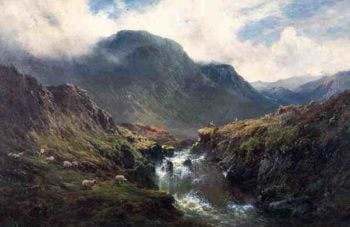 The Falls of Foyers | Alfred de Breanski | oil painting