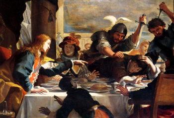 The Feast of Absalom   Mattia Preti   oil painting