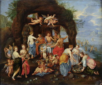 The Feast of the Gods | Jan van Kessel | oil painting