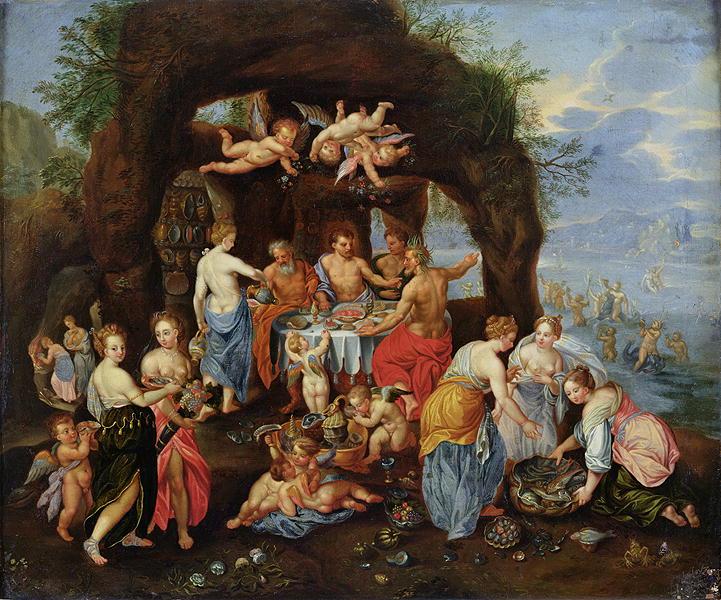 The Feast of the Gods Painting | Jan van Kessel Oil Paintings
