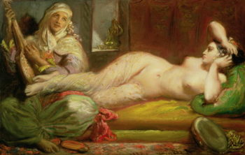 Reclining Odalisque 1853 | Theodore Chasseriau | oil painting