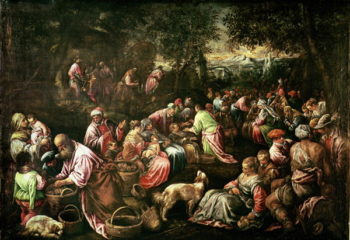 The Feeding of the Five Thousand | Jacopo Bassano | oil painting