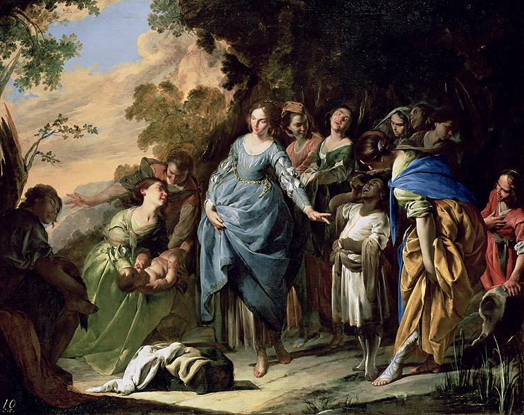 The Finding of Moses 1650 56 | Bernardo Cavallino | oil painting