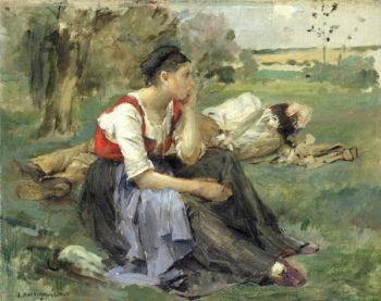 Resting Peasants 1877 | Jules Bastien Lepage | oil painting