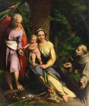 Rest on the Flight into Egypt 1515 | Correggio | oil painting
