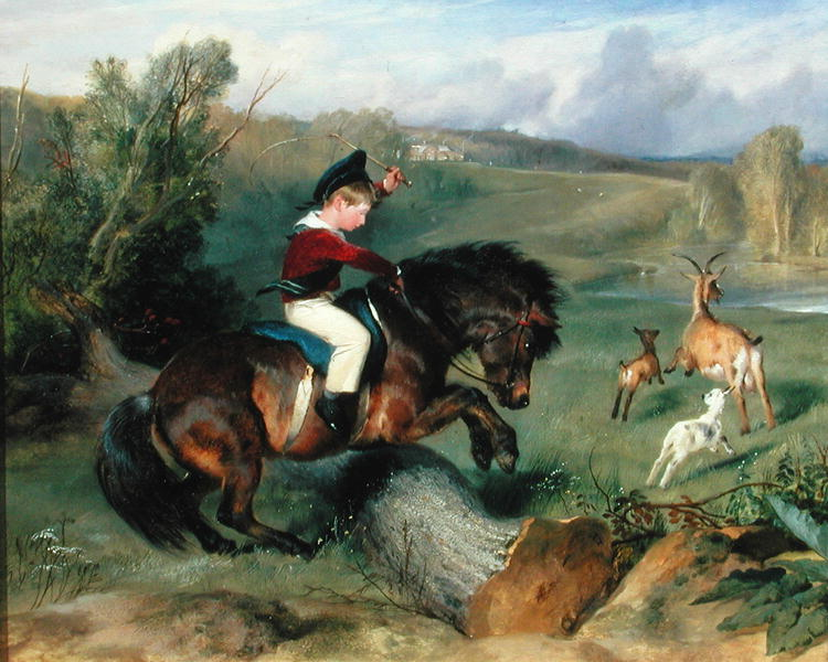 The First Leap Lord Alexander Russell on his pony 'Emerald' 1829 | Sir Edwin Landseer | oil painting