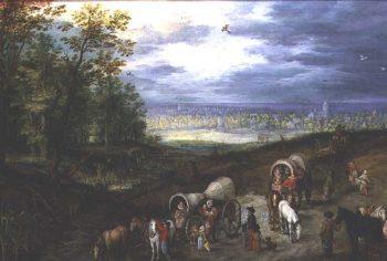 Rest on the Way 1612 | Jan the Elder Brueghel | oil painting