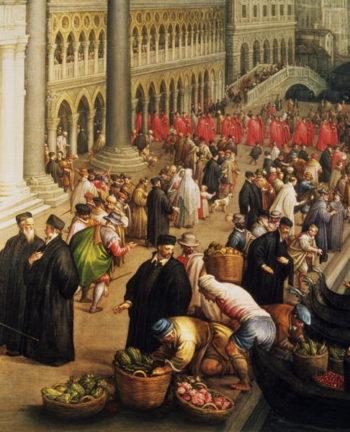 Riva degli Schiavoni Venice | Leandro da Ponte Bassano | oil painting