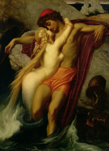 The Fisherman and the Syren From a Ballad by Goethe 1857 | Frederic Leighton | oil painting