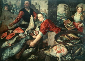 The Fish Market | Joachim Bueckelaer | oil painting