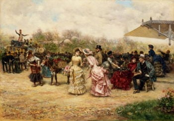 The Flower Sellers 1883 | Ludovico Marchetti | oil painting