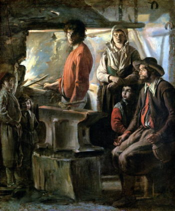 The Forge 1640 | Louis Le Nain | oil painting
