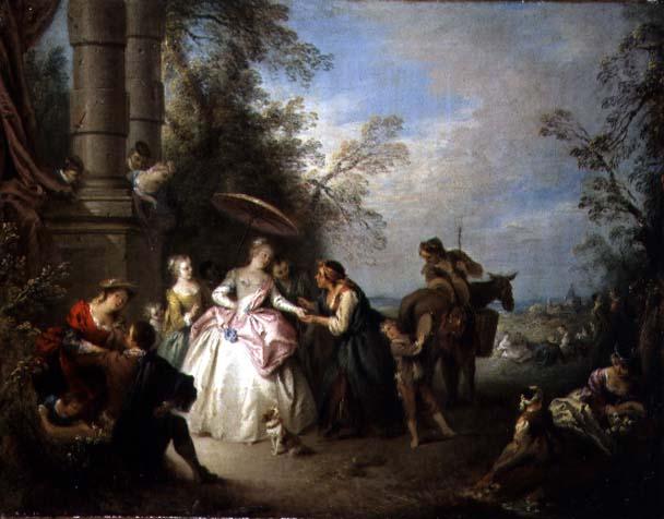The Fortune Teller | Jean Baptiste Joseph Pater | oil painting