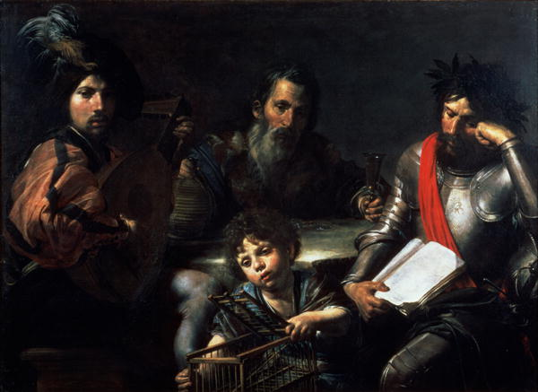 The Four Ages of Man 1626 7 | Valentin de Boulogne | oil painting