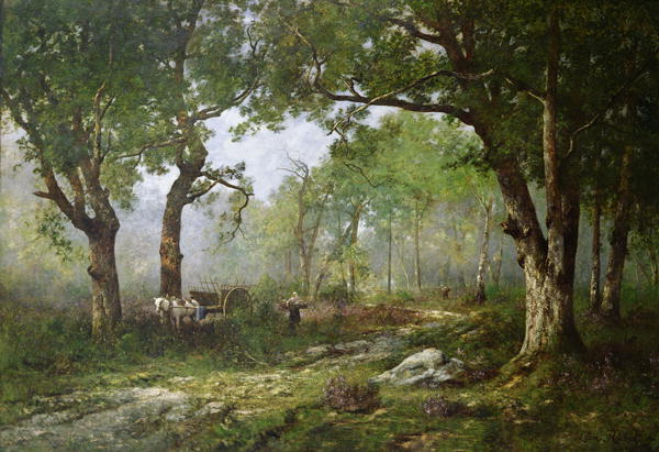 The Forest of Fontainebleau 1890 Leon Richet