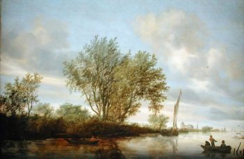 River Landscape 1645 | Salomon van Ruysdael | oil painting