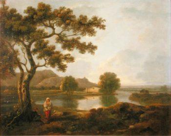 River Scene with a Farmhouse | Richard Wilson | oil painting