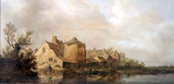 River Scene with an Inn   Jan Josephsz van Goyen   oil painting