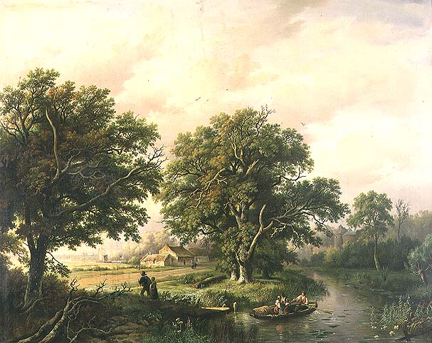 River Scene | Willem Bodeman | oil painting