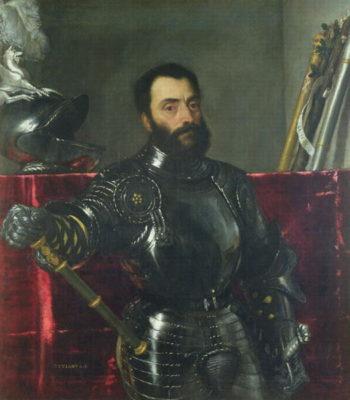 Portrait of Francesco Maria Della Rovere Duke of Urbino   Titian   oil painting