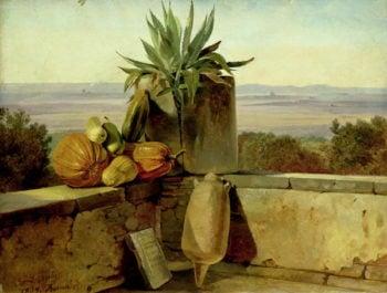 Roman Balcony 1834   Friedrich Nerly   oil painting