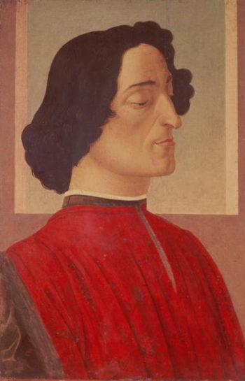 Portrait of Giuliano de' Medici   Sandro Botticelli   oil painting