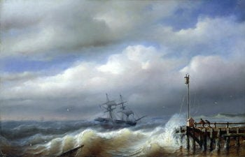 Rough Sea in Stormy Weather 1846 | Paul Jean Clays | oil painting