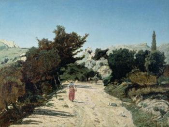 Route de la Gineste near Marseilles 1859 | Paul Camille Guigou | oil painting