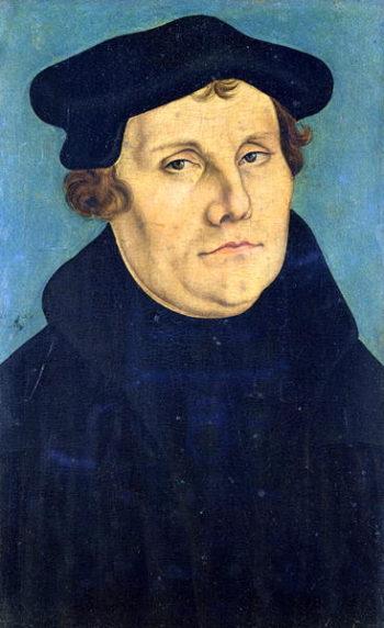 Portrait of Martin Luther | Lucas the Elder Cranach | oil painting