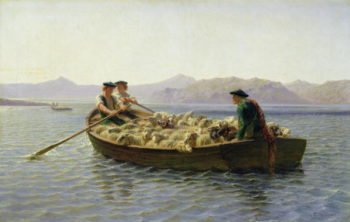 Rowing Boat 1863 | Rosa Bonheur | oil painting