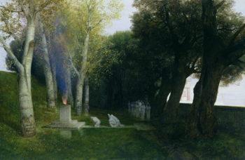 Sacred Grove 1886 | Arnold Bocklin | oil painting