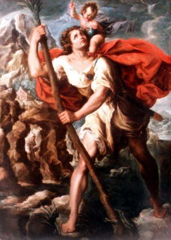 Saint Christopher | Orazio Borgianni | oil painting