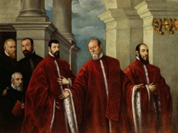 Portrait of Three Lawyers and Three Notaries 1623 | Domenico Robusti Tintoretto | oil painting