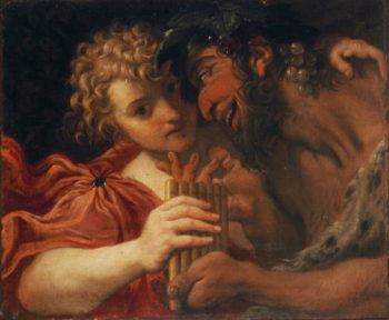 Satyr and Shepherd | Annibale Carracci | oil painting