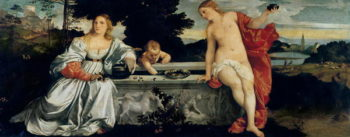 Sacred and Profane Love 1515   Titian   oil painting