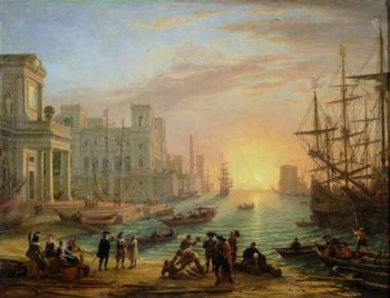 Sea Port at Sunset 1639 | Claude Lorrain | oil painting