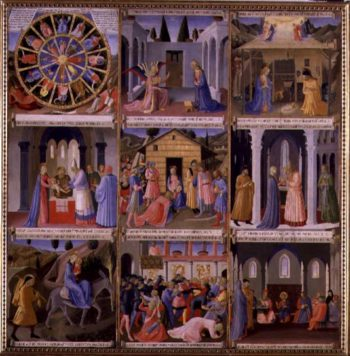 Scenes from the Nativity panel one from the Silver Treasury of Santissima Annunziata 1450 53 | Fra Angelico | oil painting